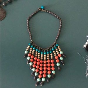 Noonday collection paper beads necklace